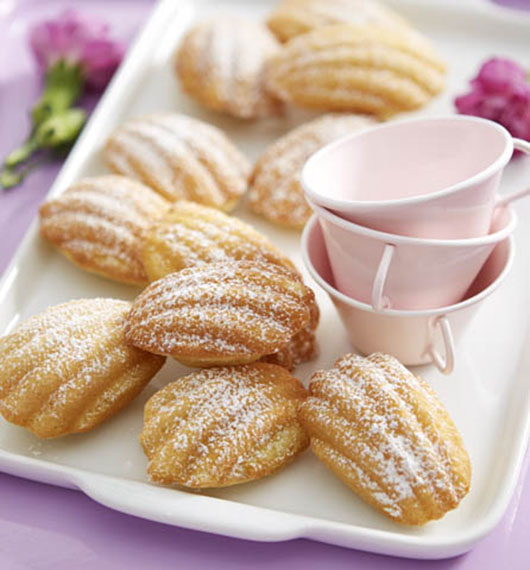 Orange Madeleines with Honey-Butter Glaze